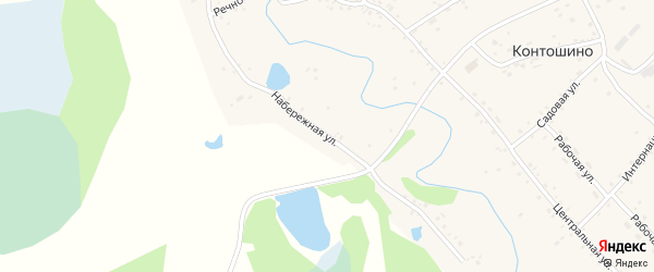Набережная улица на карте села Контошино с номерами домов