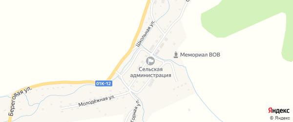 Центральная улица на карте села Лютаево с номерами домов