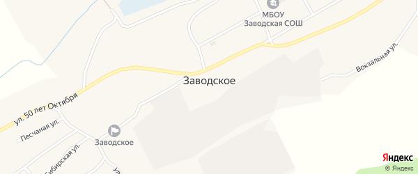 Спортивная улица на карте Заводского села с номерами домов