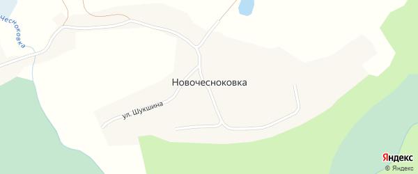 Транспортная улица на карте села Новочесноковки с номерами домов
