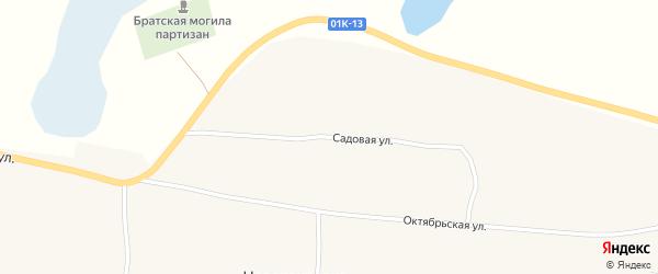 Садовая улица на карте села Новопокровки с номерами домов