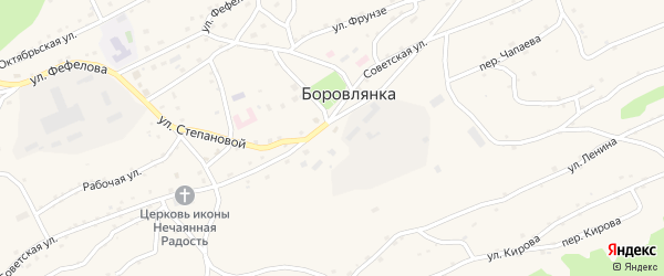Улица Фефелова на карте села Боровлянки с номерами домов