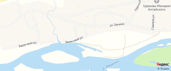 Береговая улица на карте села Акутихи с номерами домов