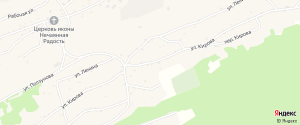 Улица Кирова на карте села Боровлянки с номерами домов