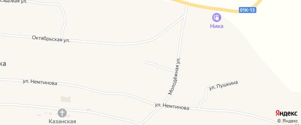 Улица Гагарина на карте села Новопокровки с номерами домов