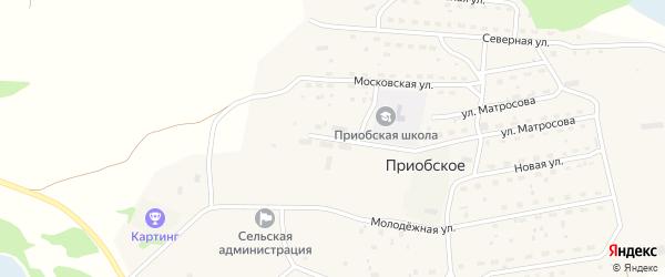 Приобская улица на карте Приобского села с номерами домов
