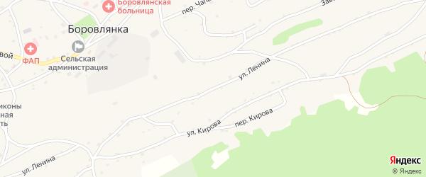 Улица Ленина на карте села Боровлянки с номерами домов