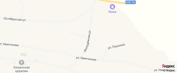 Молодежная улица на карте села Новопокровки с номерами домов