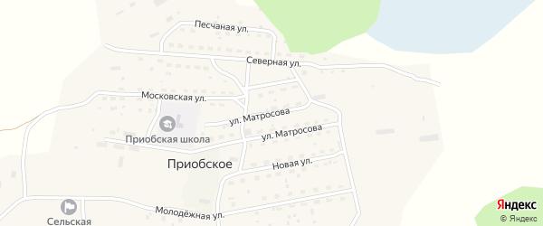 Улица Матросова на карте Приобского села с номерами домов