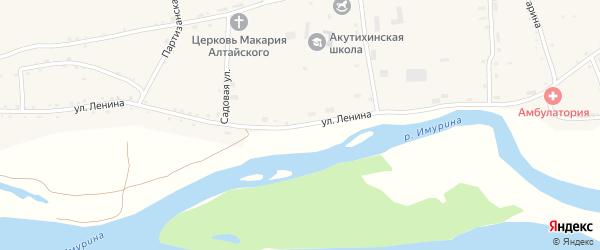 Улица Ленина на карте села Акутихи с номерами домов