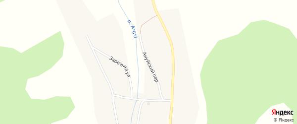 Ануйский переулок на карте Топольного села с номерами домов