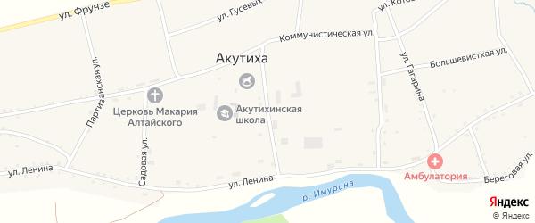 Заводская улица на карте села Акутихи с номерами домов