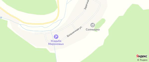 Больничная улица на карте Топольного села с номерами домов