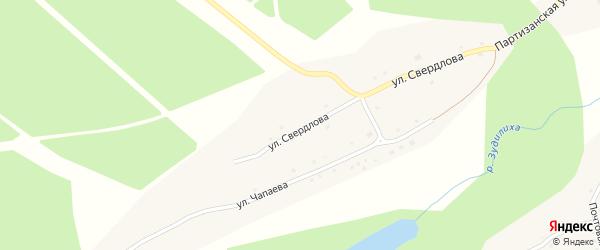 Улица Свердлова на карте села Новомоношкино с номерами домов