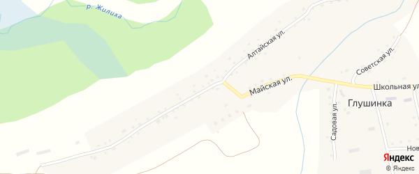 Алтайская улица на карте села Глушинка с номерами домов
