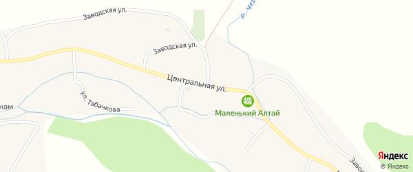 Заводская улица на карте Топольного села с номерами домов