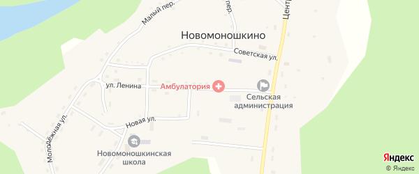 Улица Ленина на карте села Новомоношкино с номерами домов