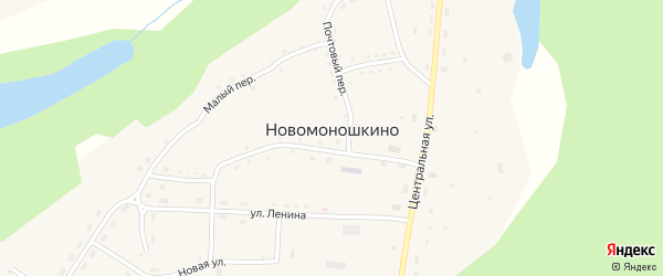 Набережная улица на карте села Новомоношкино с номерами домов