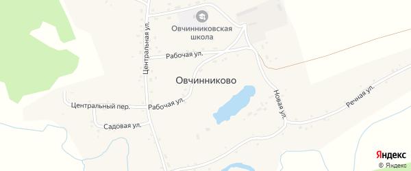 Центральный переулок на карте села Овчинниково с номерами домов