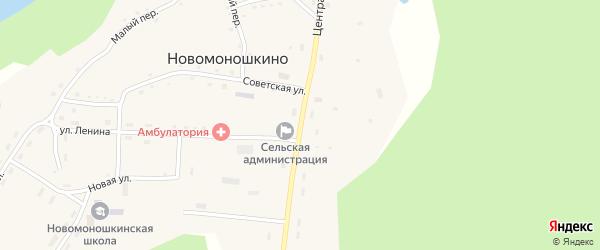 Центральная улица на карте села Новомоношкино с номерами домов