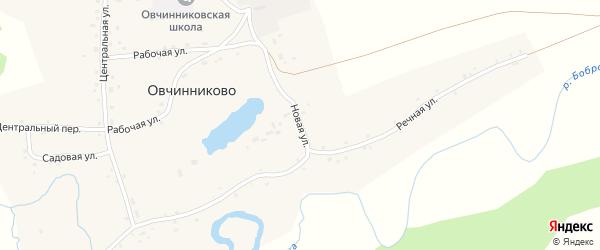 Новая улица на карте села Овчинниково с номерами домов