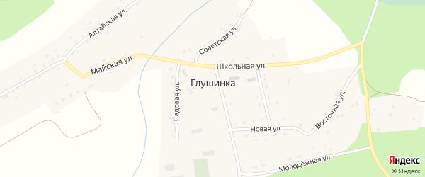 Школьная улица на карте села Глушинка с номерами домов
