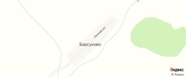 Речная улица на карте села Барсуково с номерами домов