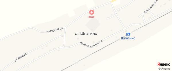 Воронежская улица на карте села Шпагино с номерами домов