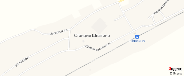 Колхозная улица на карте села Шпагино с номерами домов