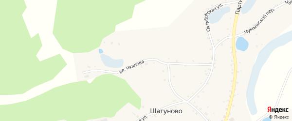 Улица Чкалова на карте села Шатуново с номерами домов