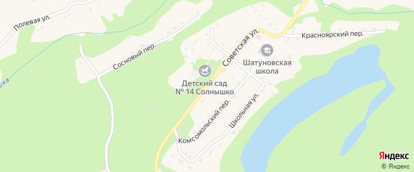 Советская улица на карте села Шатуново с номерами домов