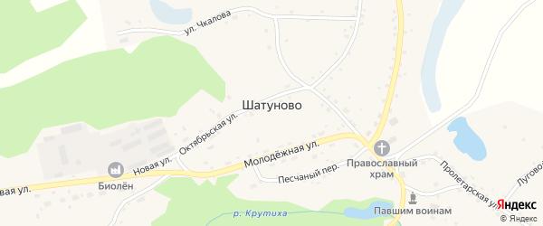 Озерный переулок на карте села Шатуново с номерами домов