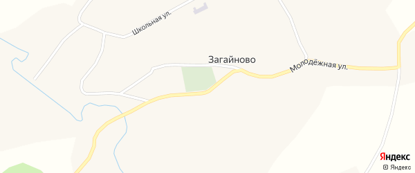 Рабочая улица на карте села Загайново с номерами домов