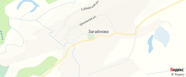 Карта села Загайново в Алтайском крае с улицами и номерами домов