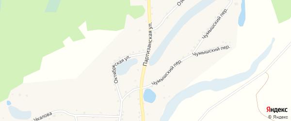 Партизанская улица на карте села Шатуново с номерами домов