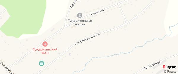 Комсомольская улица на карте села Тундрихи с номерами домов