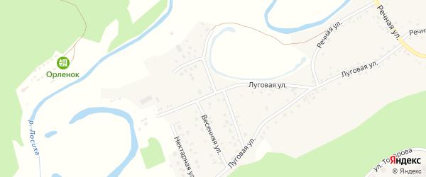 Лосихинский переулок на карте села Косихи с номерами домов