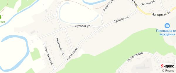 Луговая улица на карте села Косихи с номерами домов