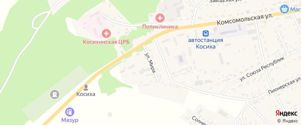 Улица Мира на карте села Косихи с номерами домов