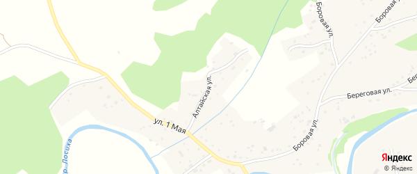 Алтайская улица на карте села Косихи с номерами домов