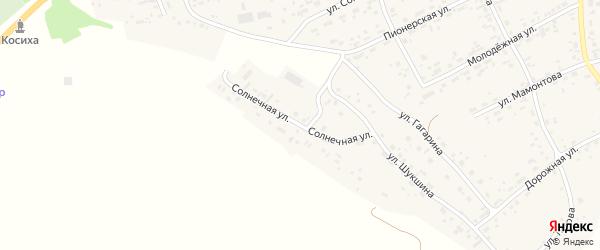 Солнечная улица на карте села Косихи с номерами домов