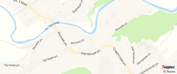 Речная улица на карте села Косихи с номерами домов