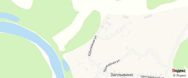 Юбилейная улица на карте села Заплывино с номерами домов