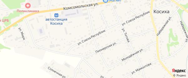 Улица Чкалова на карте села Косихи с номерами домов