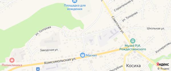 Улица Топорова на карте села Косихи с номерами домов