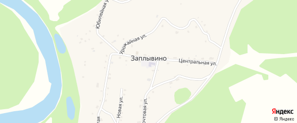 Почтовая улица на карте села Заплывино с номерами домов