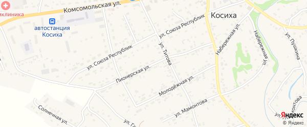 Пионерская улица на карте села Косихи с номерами домов
