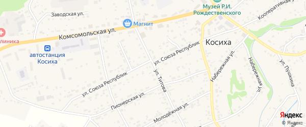 Улица Союза Республик на карте села Косихи с номерами домов