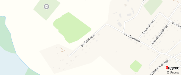 Улица Свободы на карте села Налобиха с номерами домов