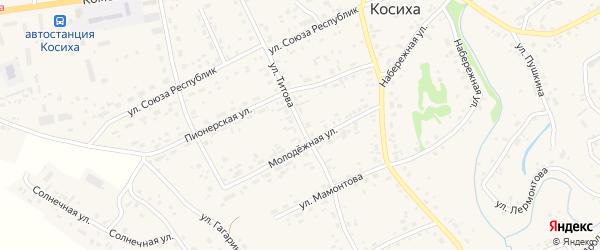 Улица Титова на карте села Косихи с номерами домов